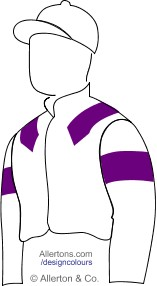 Racing colours for Mrs Jan Harris